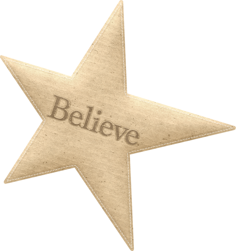 Primitive star clipart transparent png freeuse library star_believe_maryfran.png   Star, Christmas words and Christmas clipart png freeuse library