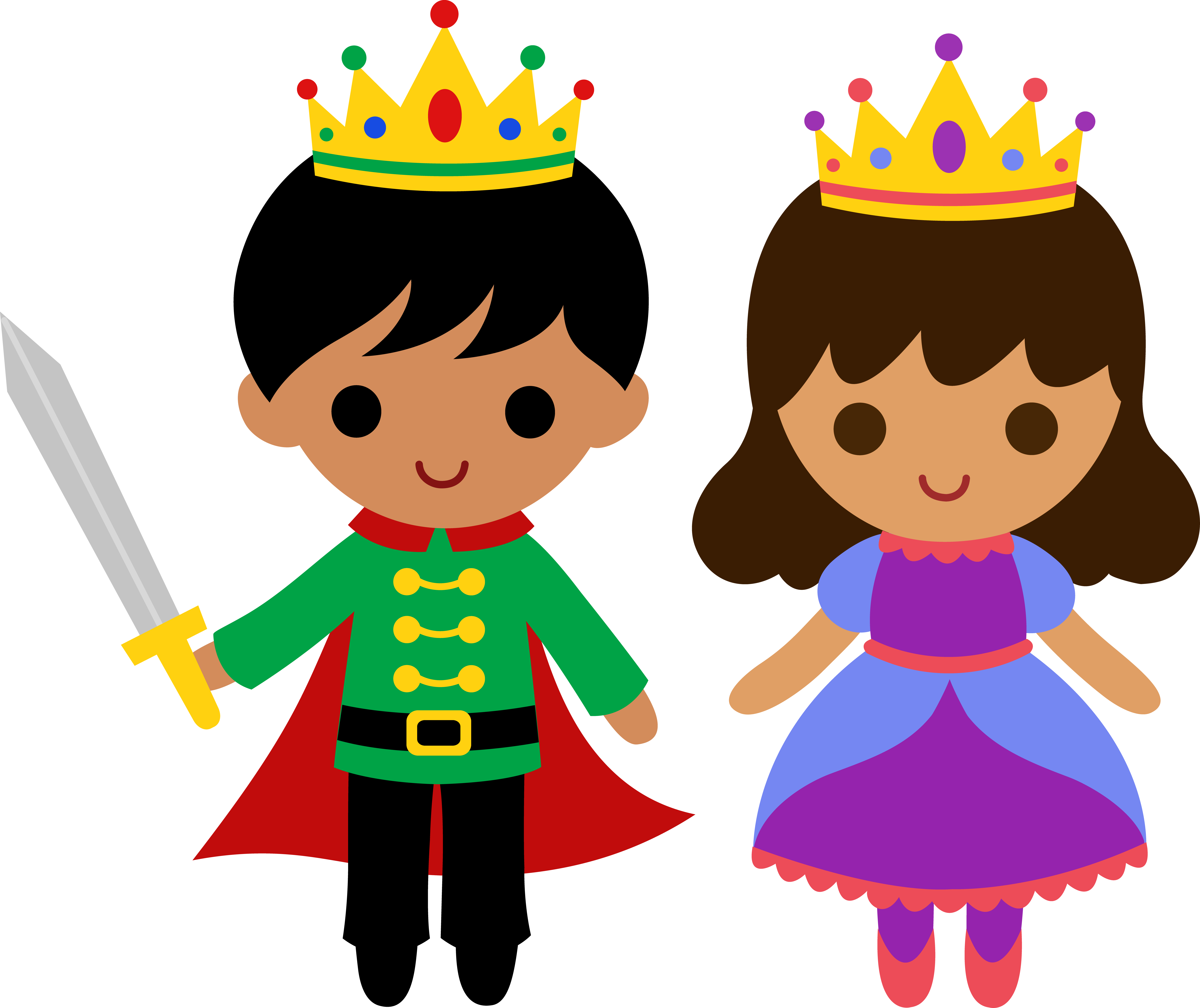Prince and princess crown clipart library Cute Prince and Princess 2 - Free Clip Art library