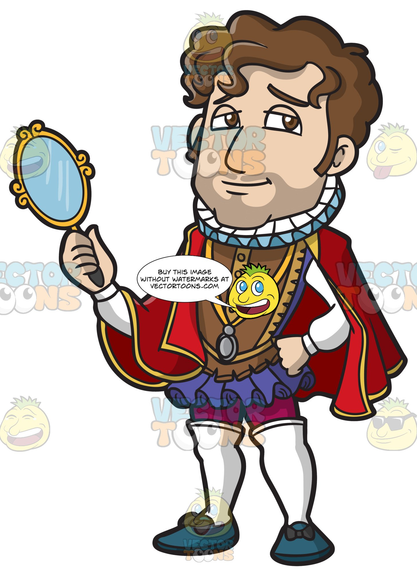 Prince cartoon clipart banner black and white stock A Handsome Shakespearean Prince banner black and white stock