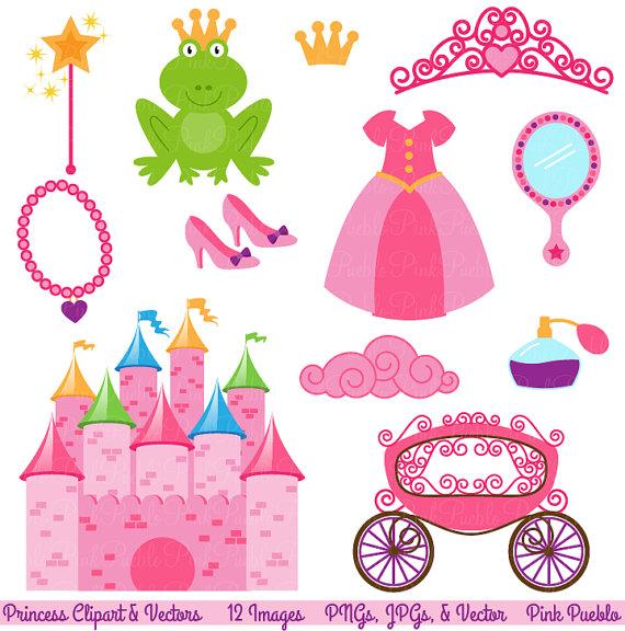 Princess accessories clipart banner freeuse download Princess Fairytale Clipart Clip Art, Storybook Clip Art ... banner freeuse download