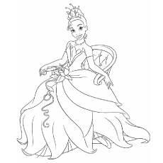 Princess and the frog black and white clipart disney graphic Top 25 Disney Princess Coloring Pages For Your Little Girl graphic