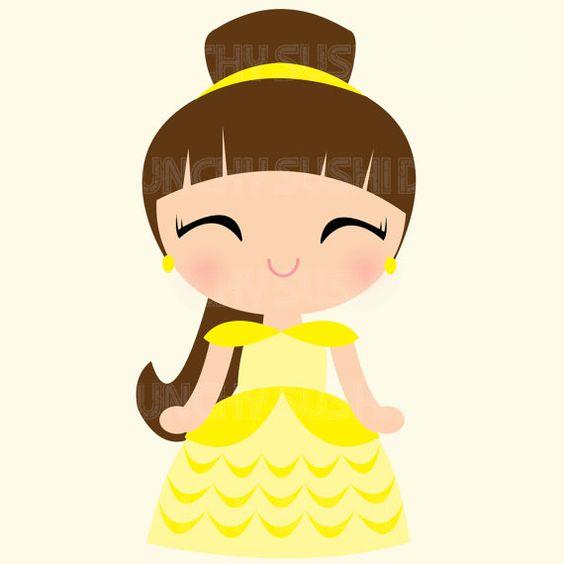Princess belle clipart cute clip art royalty free Instant Download Princess Belle Princess Cute by CrunchySushiDay ... clip art royalty free