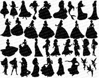 Princess belle silhouette clipart clipart royalty free download Little girl princess silhouette clipart - ClipartFest clipart royalty free download