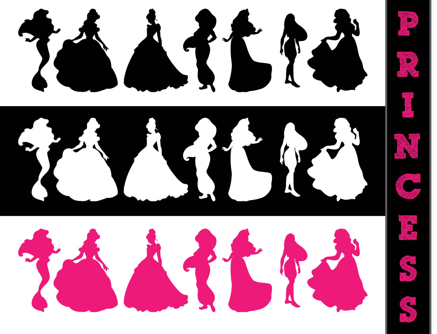 Princess belle silhouette clipart jpg freeuse Princess train silhouette clipart - ClipartFest jpg freeuse