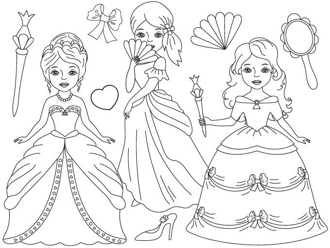 Princess black and white clipart clip transparent download 70% OFF SALE Princess Clipart - Digital Vector Princess ... clip transparent download