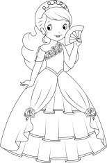 Princess black and white clipart image Black and white princess clipart 5 » Clipart Portal image