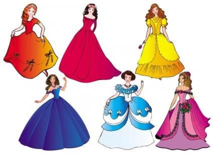 Princess cartoon clipart