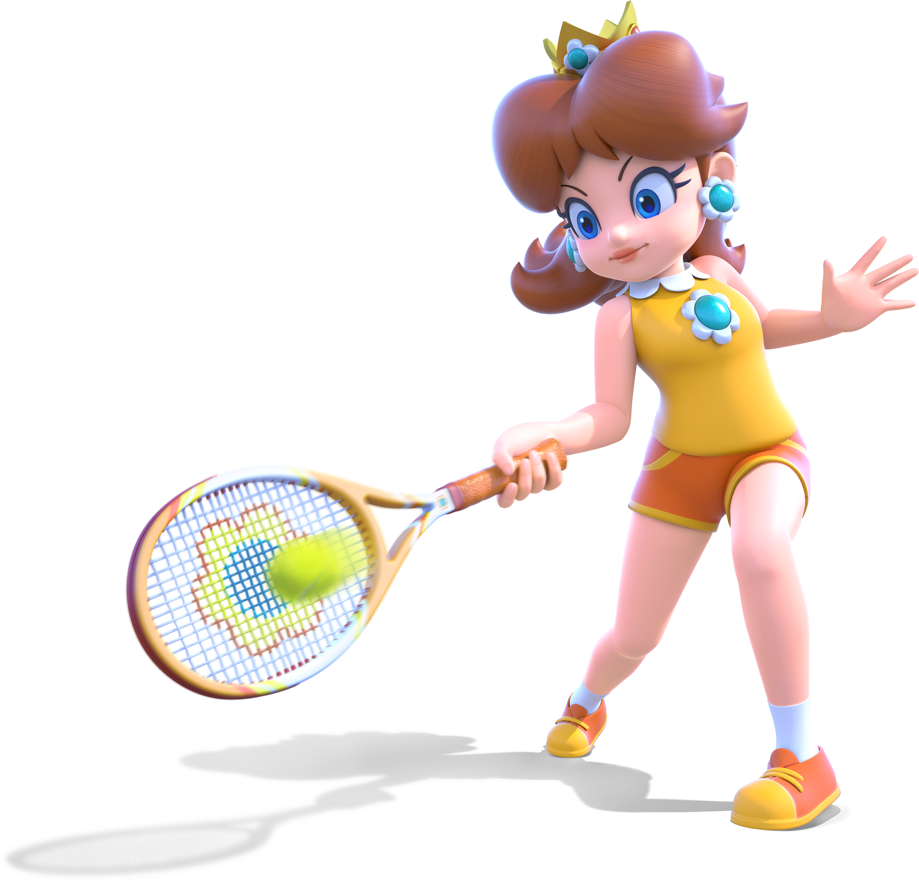 Princess crown narrow clipart banner free Daisy finally got new HD artwork in Mario Tennis, and it looks great ... banner free