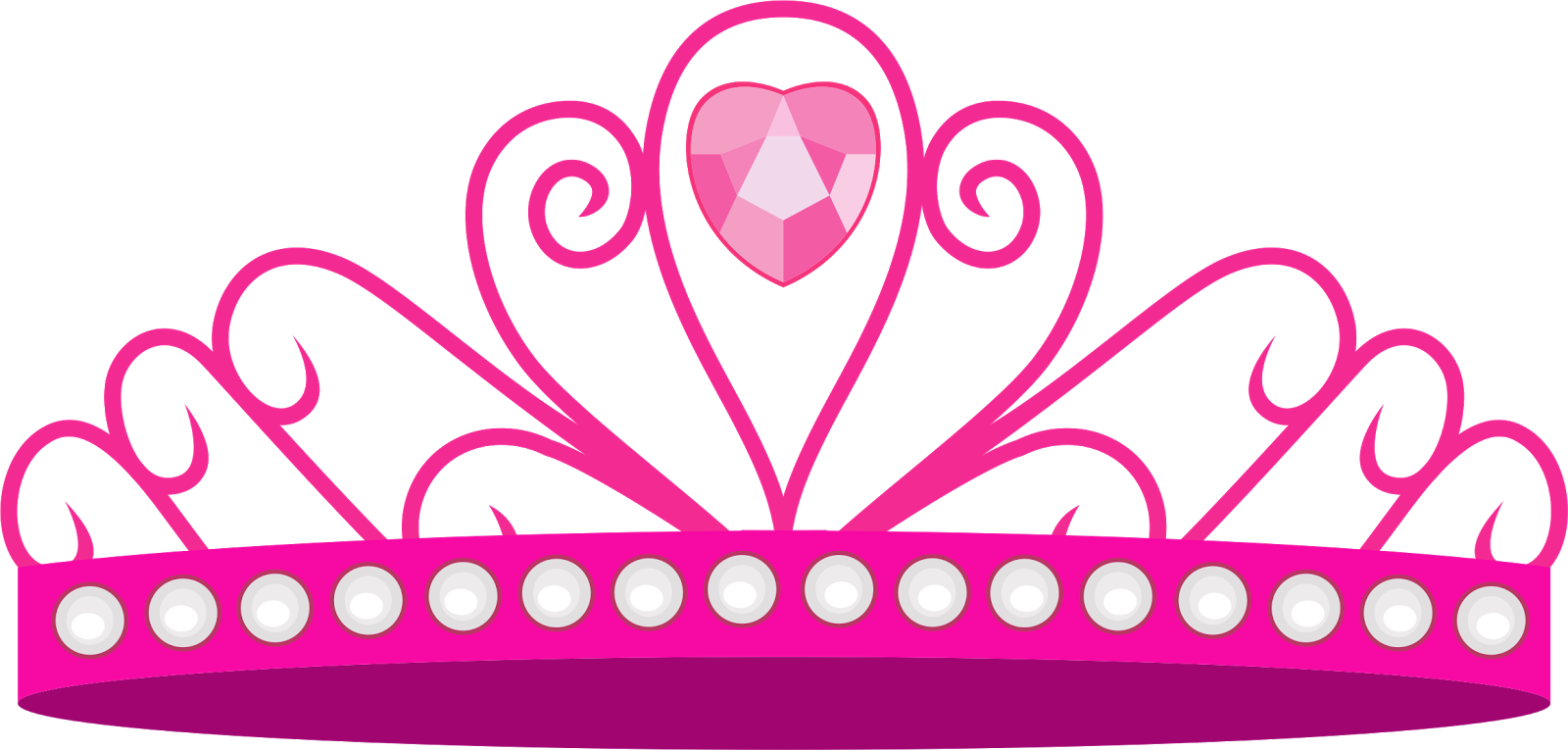Princess crown with hearts clipart vector download Crown Disney Princess Clip art - crown 1600*765 transprent Png Free ... vector download