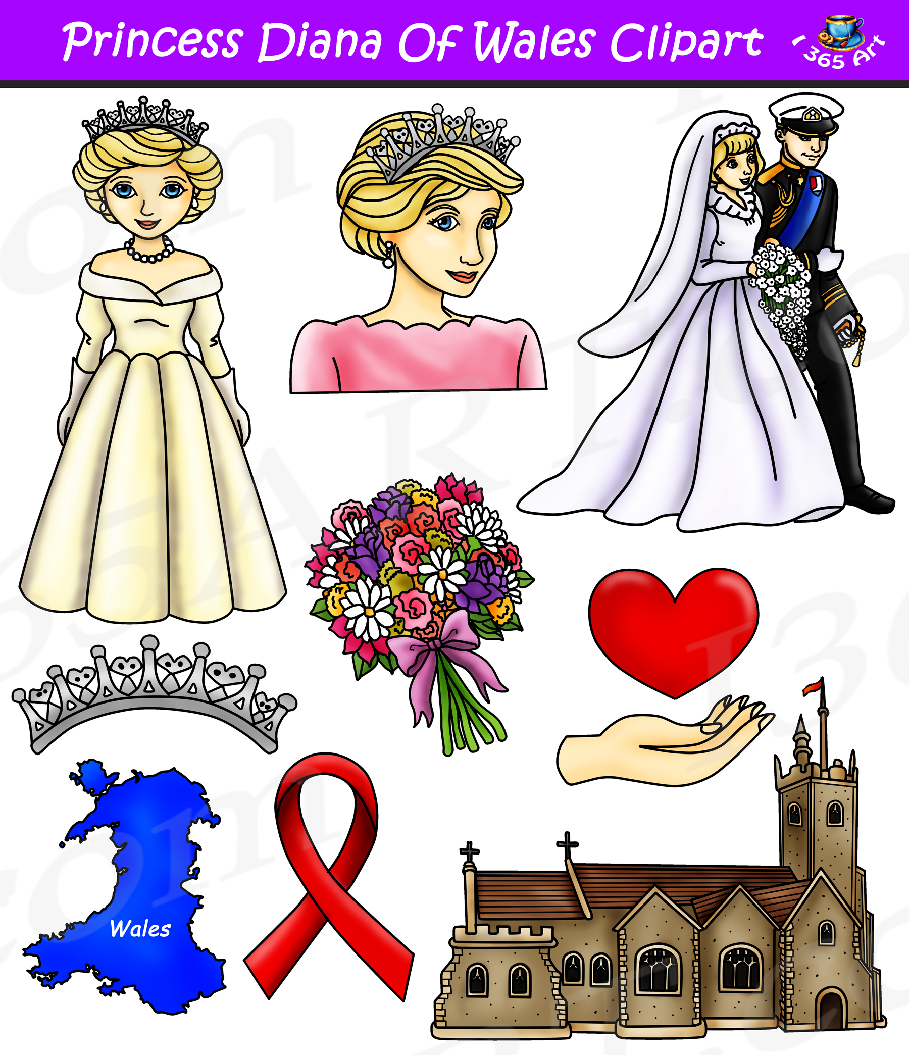 Princess diana clipart svg library download Princess Diana Clipart - Influential People Download svg library download
