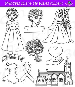 Princess diana clipart vector transparent download Princess Diana Clipart Set vector transparent download