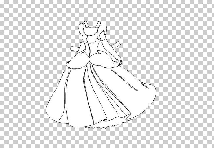 Princess dress clipart black and white picture free library Skirt Shoe Princess Clothing PNG, Clipart, Arm, Art, Artwork ... picture free library