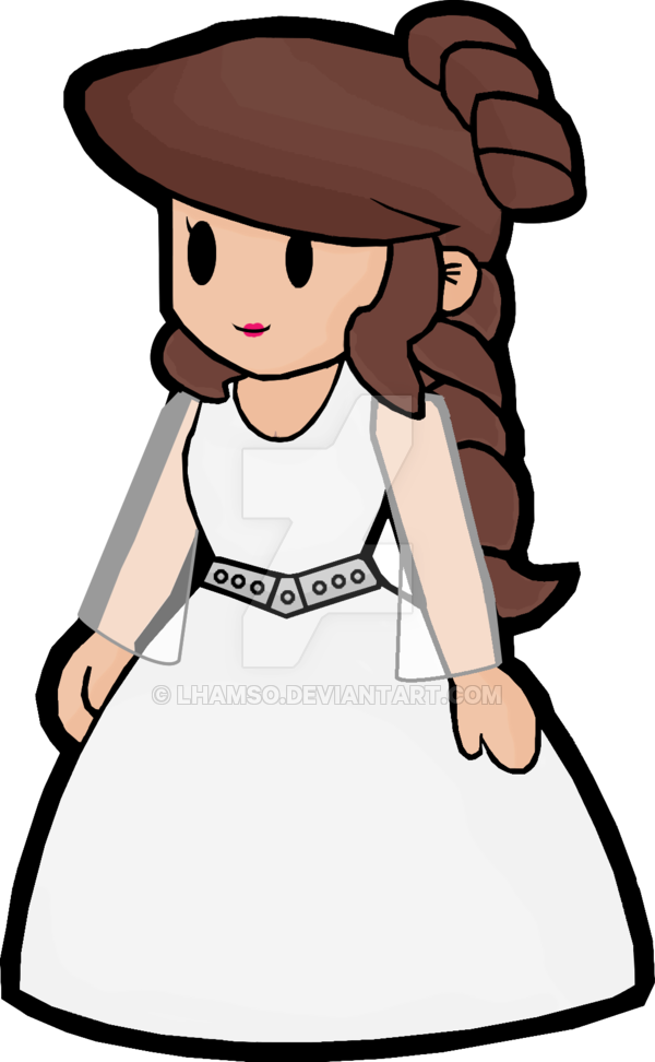 Star wars princess leia clipart png free stock Princess Leia Paper Mario by lhamso on DeviantArt png free stock