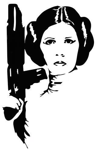 Princess leia star wars clipart black and white jpg library library Amazon.com: Princess Leia Sticker Vinyl Decal Sci-Fi Star ... jpg library library