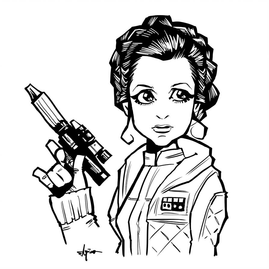 Princess leia star wars clipart black and white black and white download Collection of Princess leia clipart   Free download best ... black and white download