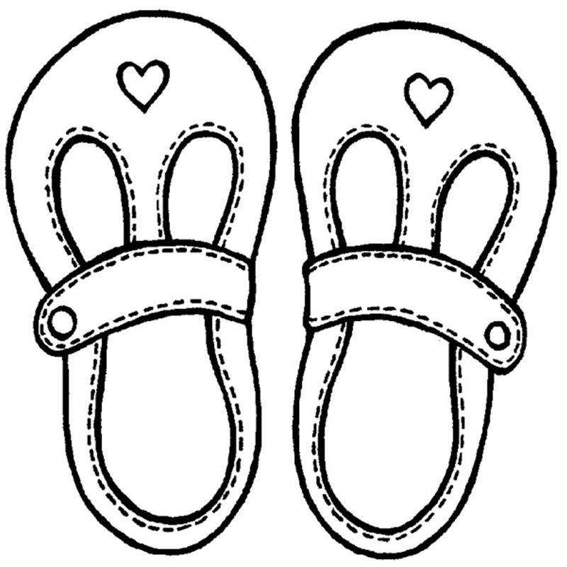 Princess shoes for girls clipart black and white transparent Free Baby Shoes Pics, Download Free Clip Art, Free Clip Art ... transparent