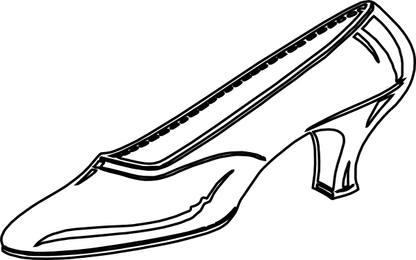 Princess shoes for girls clipart black and white clipart black and white Cinderella Clipart Black And White | Free download best ... clipart black and white