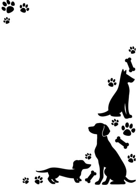 Print clipart from site banner royalty free stock Paw Print Border Clipart - Clipart Kid banner royalty free stock