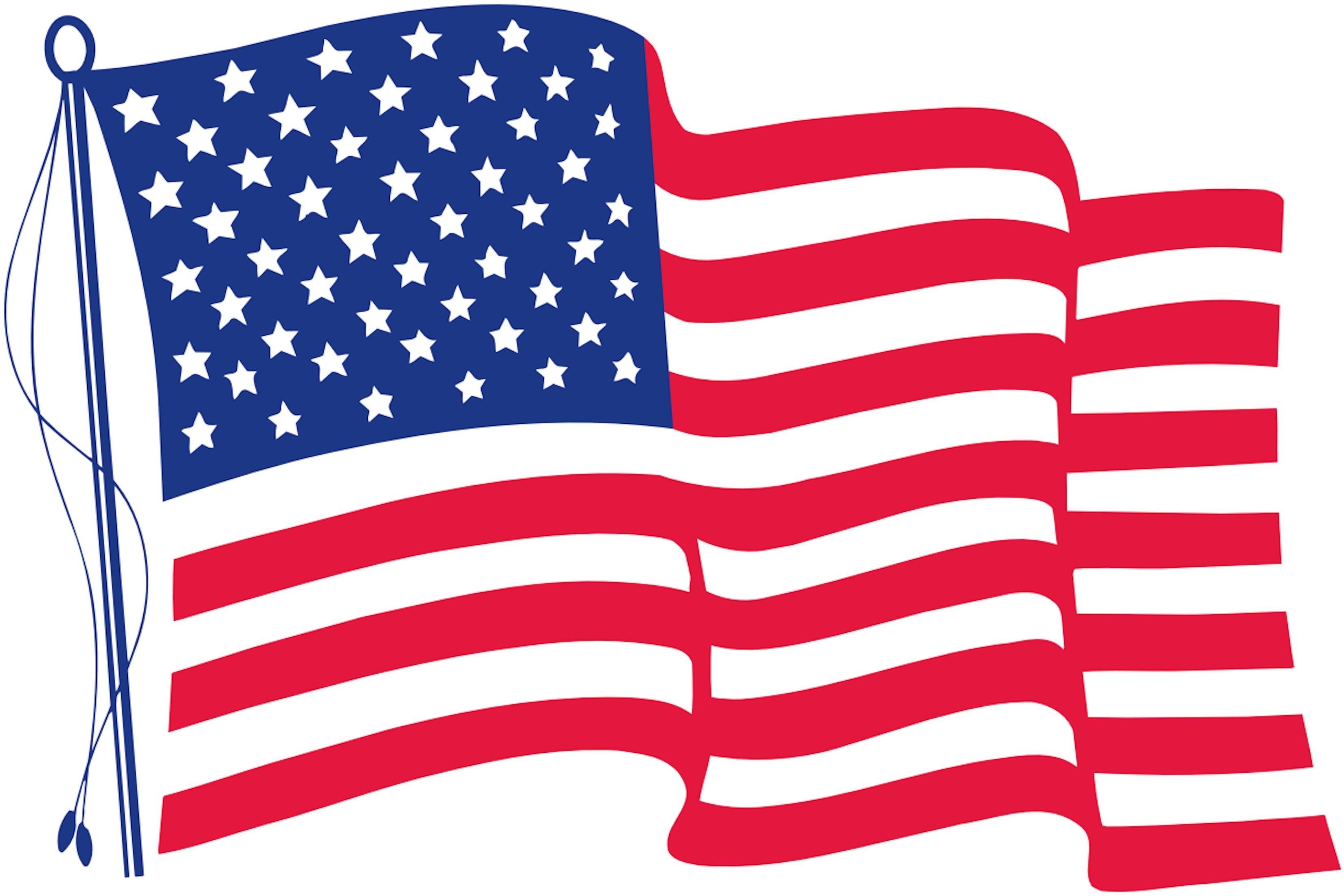 Printable american flag clipart jpg royalty free stock American Flag Printable - Making-The-Web.com jpg royalty free stock