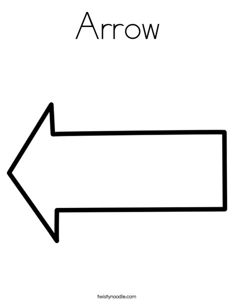 Printable arrow banner freeuse download Arrow Coloring Page - Twisty Noodle banner freeuse download