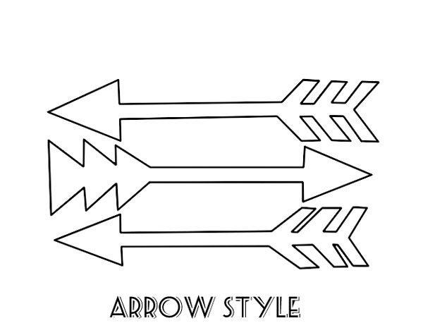 Printable arrow jpg black and white library Printable Arrow Stencil | Printable Images, Cards & Posters jpg black and white library