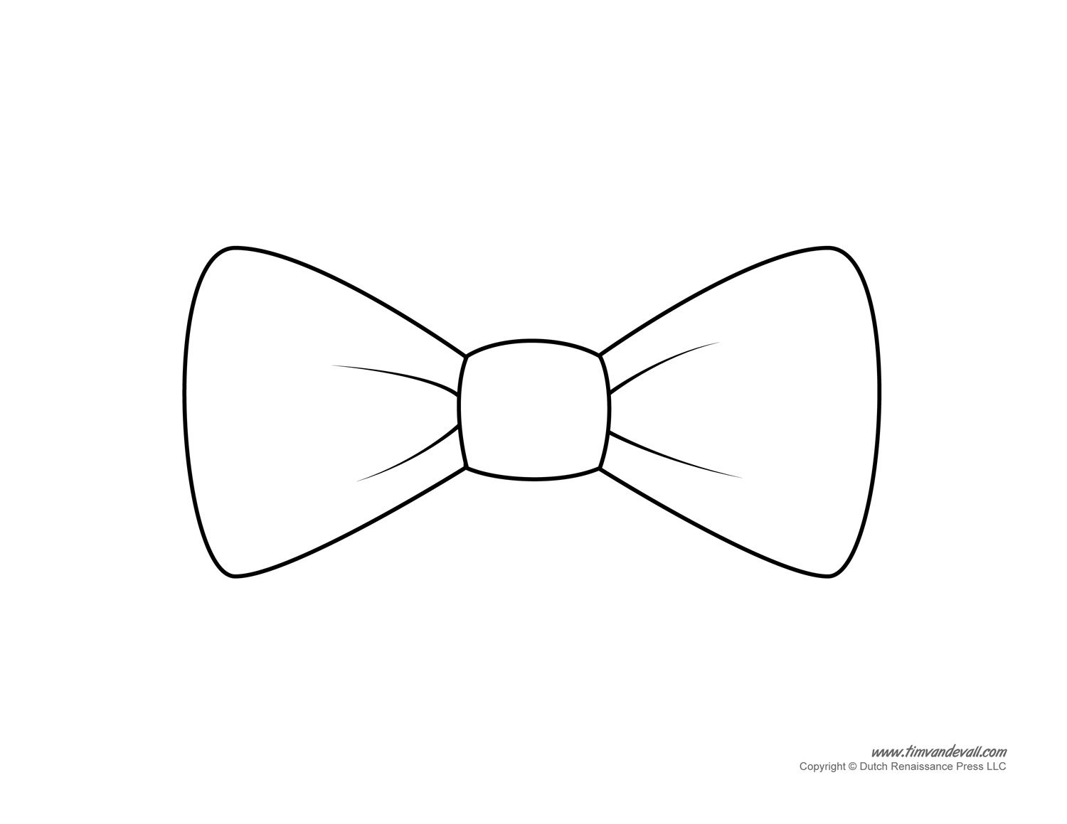 Printable bow tie clipart picture free library Bow Tie Clipart To Printable | SVG Files | Bow tie template ... picture free library