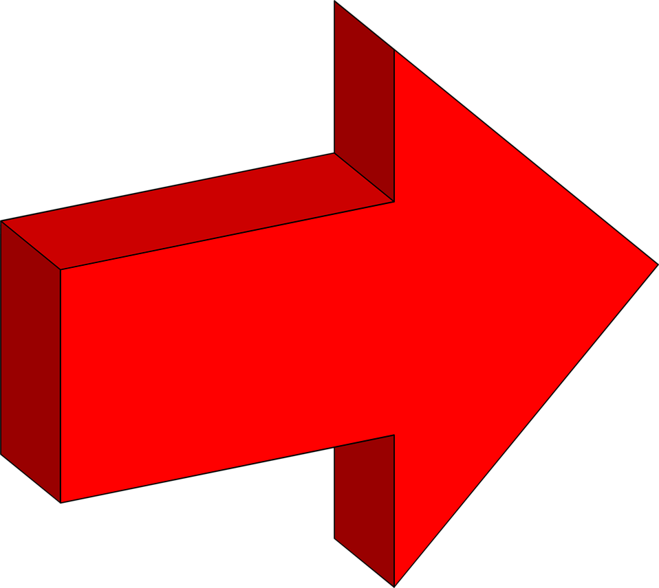 Printable clipart arrow to the right jpg transparent Free Stock Photo: Illustration of a right facing 3d red arrow ... jpg transparent