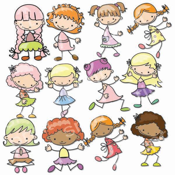 Printable clipart for girls svg stock Girls Digital Clip Art Cute Girls Images-Baby Girls Clipart svg stock