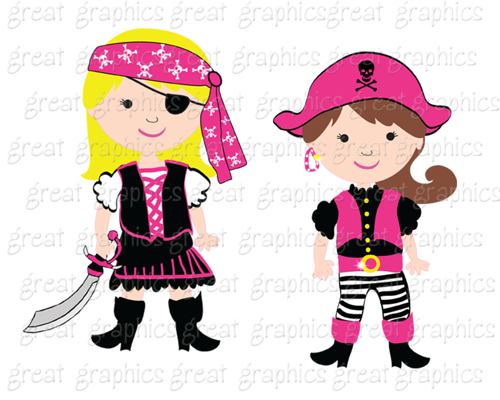 Printable clipart for girls clip download Girl pirate clipart - ClipartFest clip download