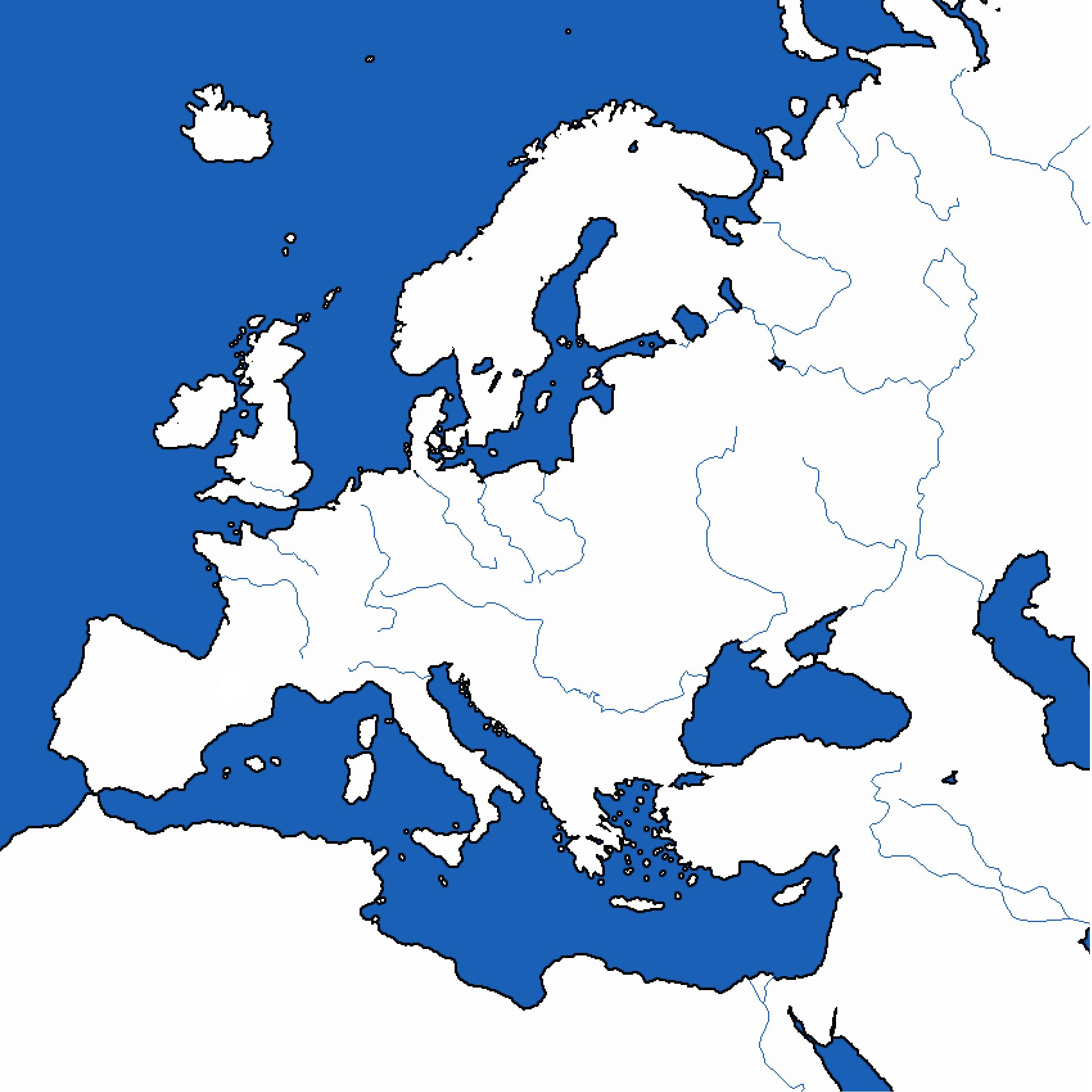 Printable clipart map svg royalty free Clipart map of europe - ClipartFest svg royalty free