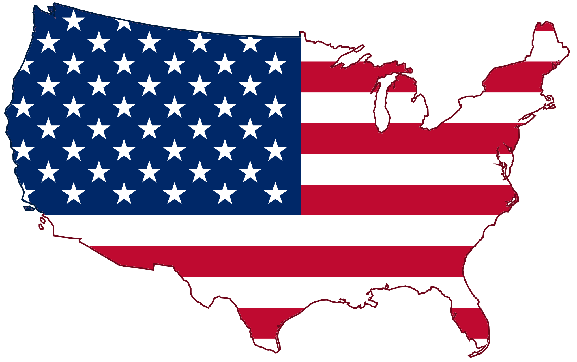 Printable clipart us map free svg freeuse Usa Map Flag #24766 svg freeuse