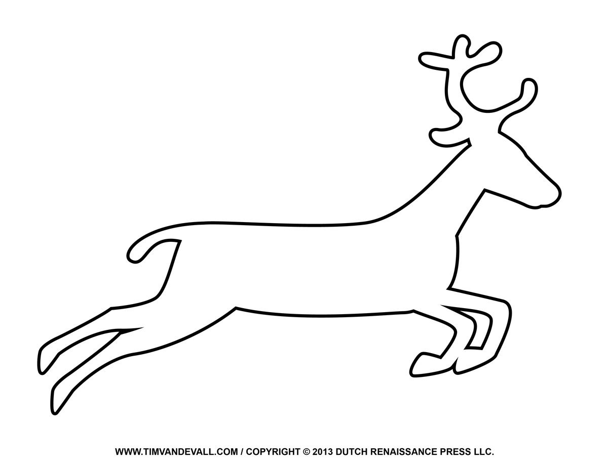 Printable coloring pages of santa and reindeer clipart svg royalty free stock Free Reindeer Clipart Template Amp Printable Coloring Pages ... svg royalty free stock