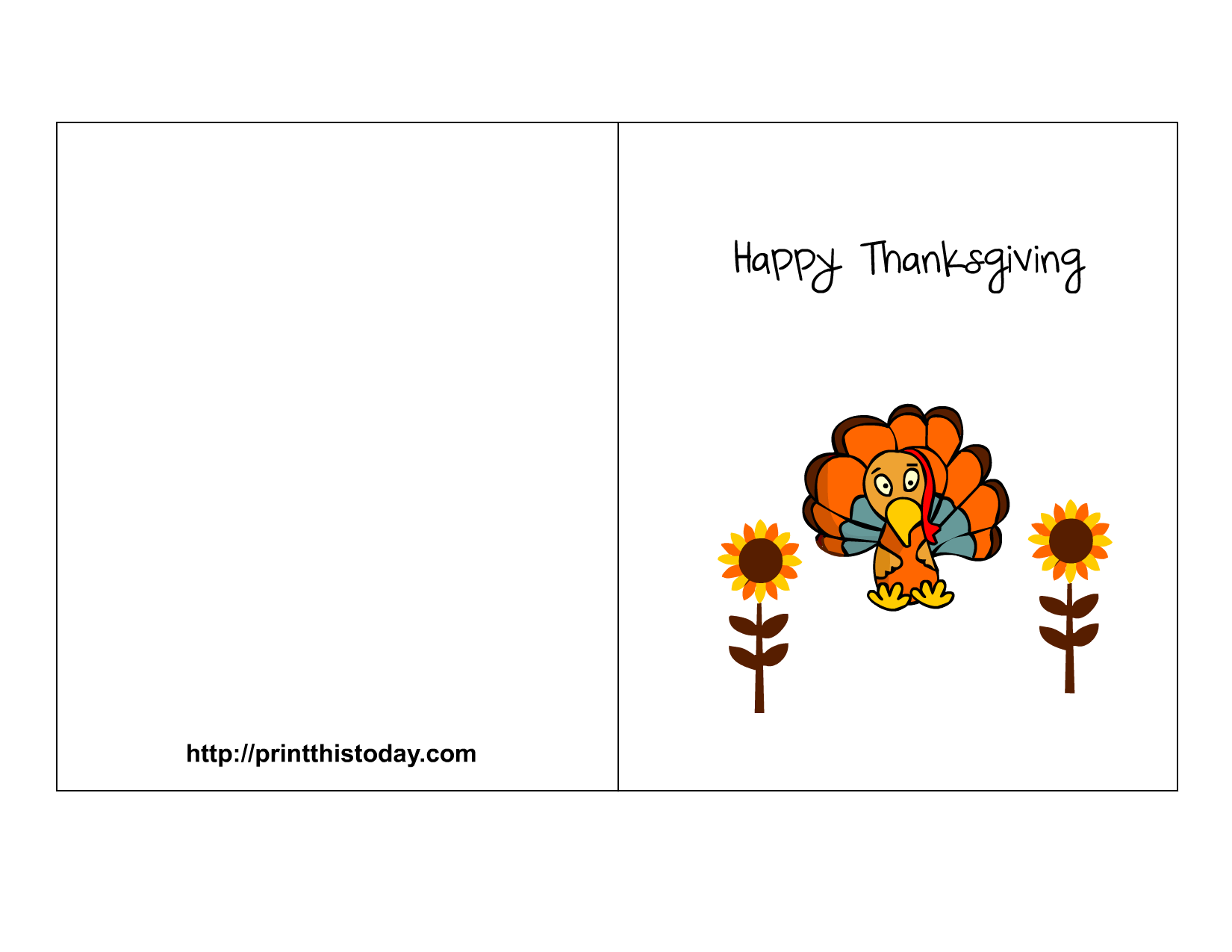 Thanksgiving clipart card for kids printable svg library download Free Printable Thanksgiving Cards svg library download