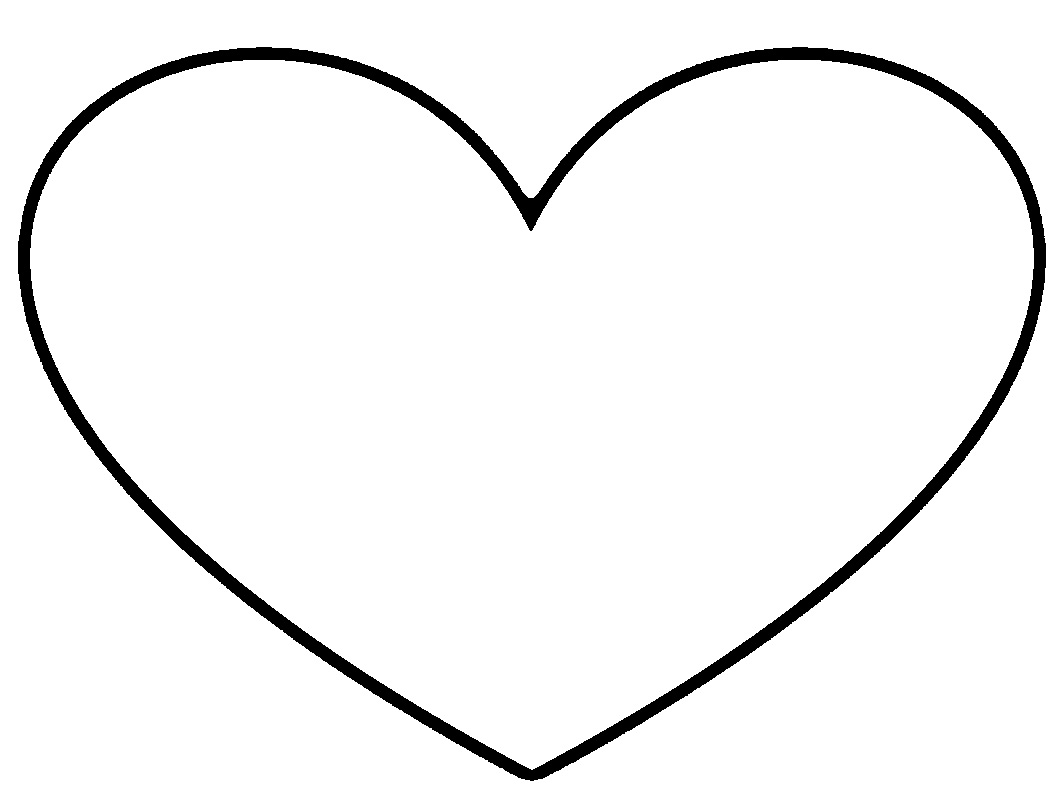 Row of hearts clipart black and white