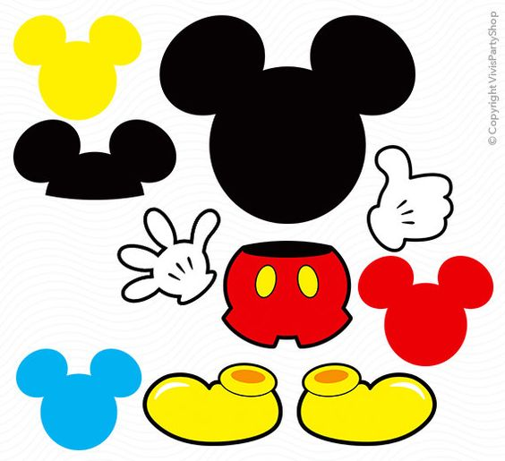 Printable mickey mouse clipart image royalty free stock MICKEY Mouse Clipart, Printable, Instant download, PNG files ... image royalty free stock