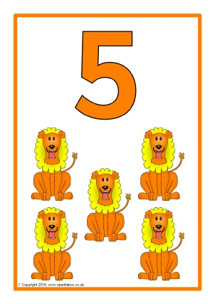 Printable number 1-20 clipart