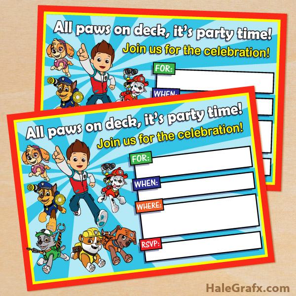 Printable paw patrol clipart clip royalty free stock Paw patrol invite background clipart - ClipartFest clip royalty free stock
