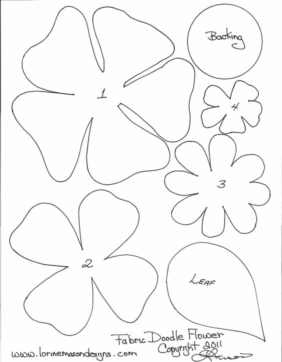 Printable photos of flowers vector transparent download Free Printable Paper Flower Templates | scissors paper and sewing ... vector transparent download
