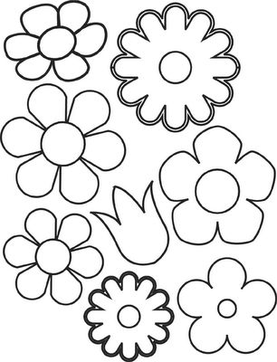 Printable picture of flowers vector library Spring Flower Coloring Pages | Flowers Coloring Sheet | Templates ... vector library