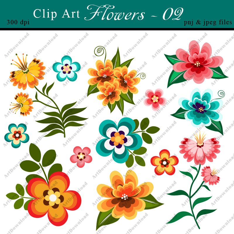 Printable picture of flowers image library library Printable clipart of flowers - ClipartFest image library library