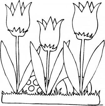 Printable picture of flowers clipart royalty free download 17 Best images about Card Easter printable on Pinterest | Coloring ... clipart royalty free download