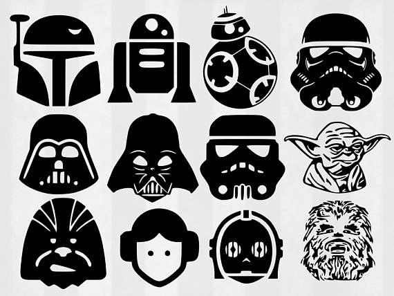 Star wars ship silhouette simple clipart jpg free library Star Wars SVG Bundle Star Wars clipart Star Wars cut files ... jpg free library