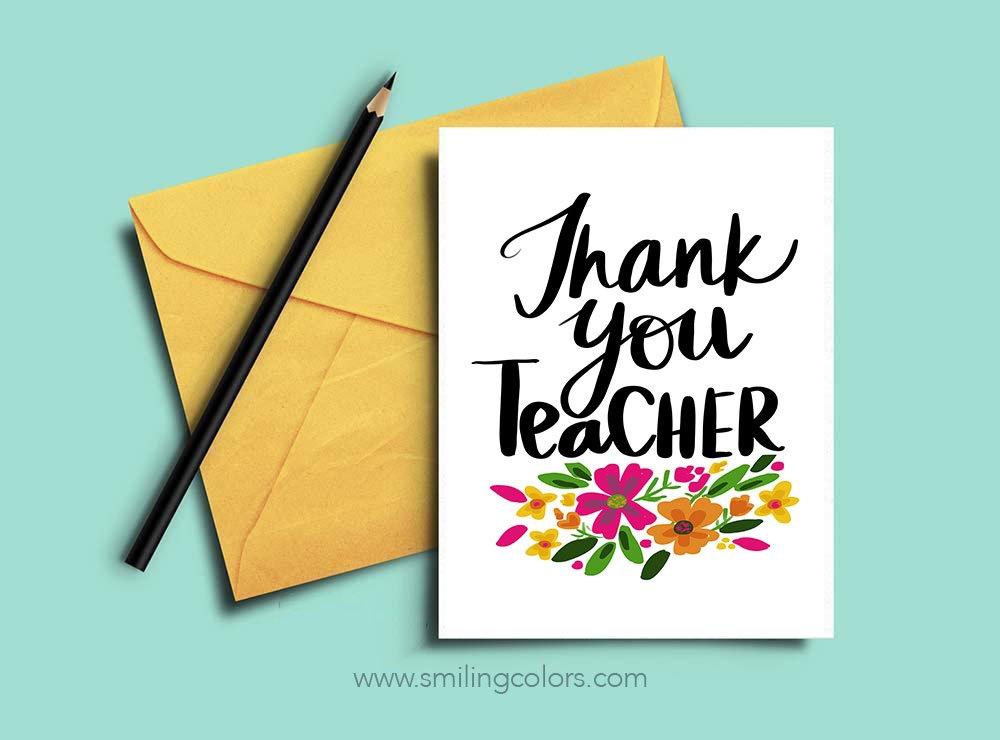 Printable thank you teacher christmas cards clipart image black and white Thank you teacher: A set of FREE printable note cards ... image black and white