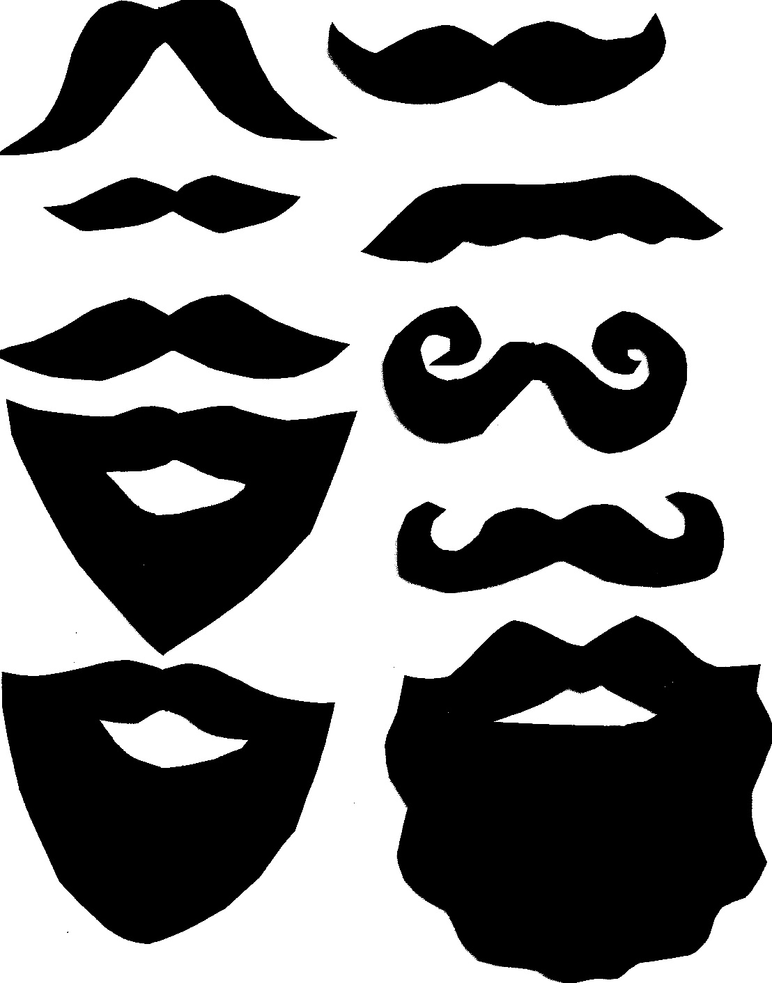 Printables clipart png freeuse Mustache Printables Clipart - Clipart Kid png freeuse