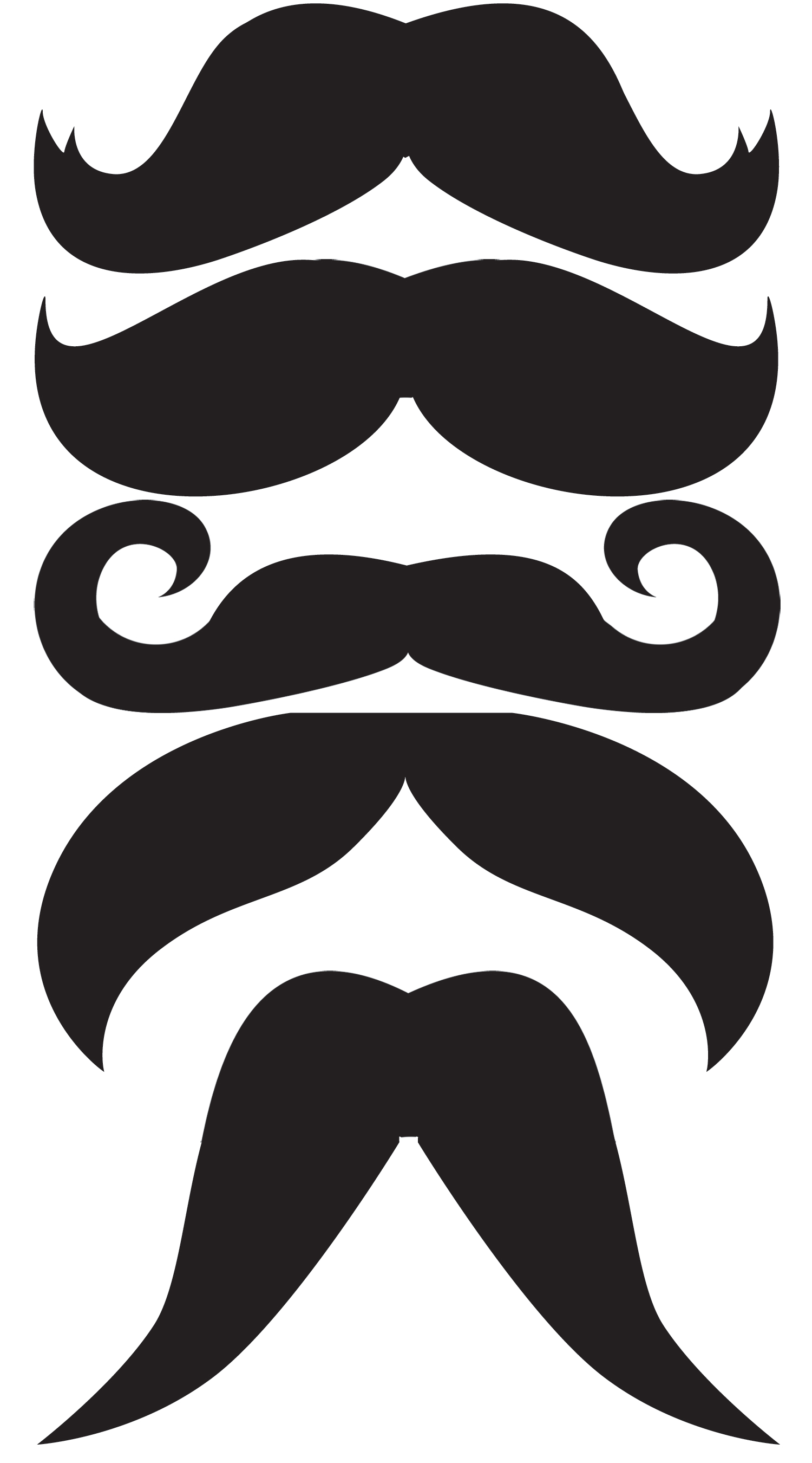 Printables clipart svg black and white library Mustache Printables Clipart - Clipart Kid svg black and white library
