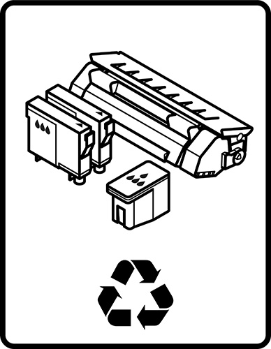 Printer cartridges clipart vector black and white download Ink & Toner Recycling vector black and white download