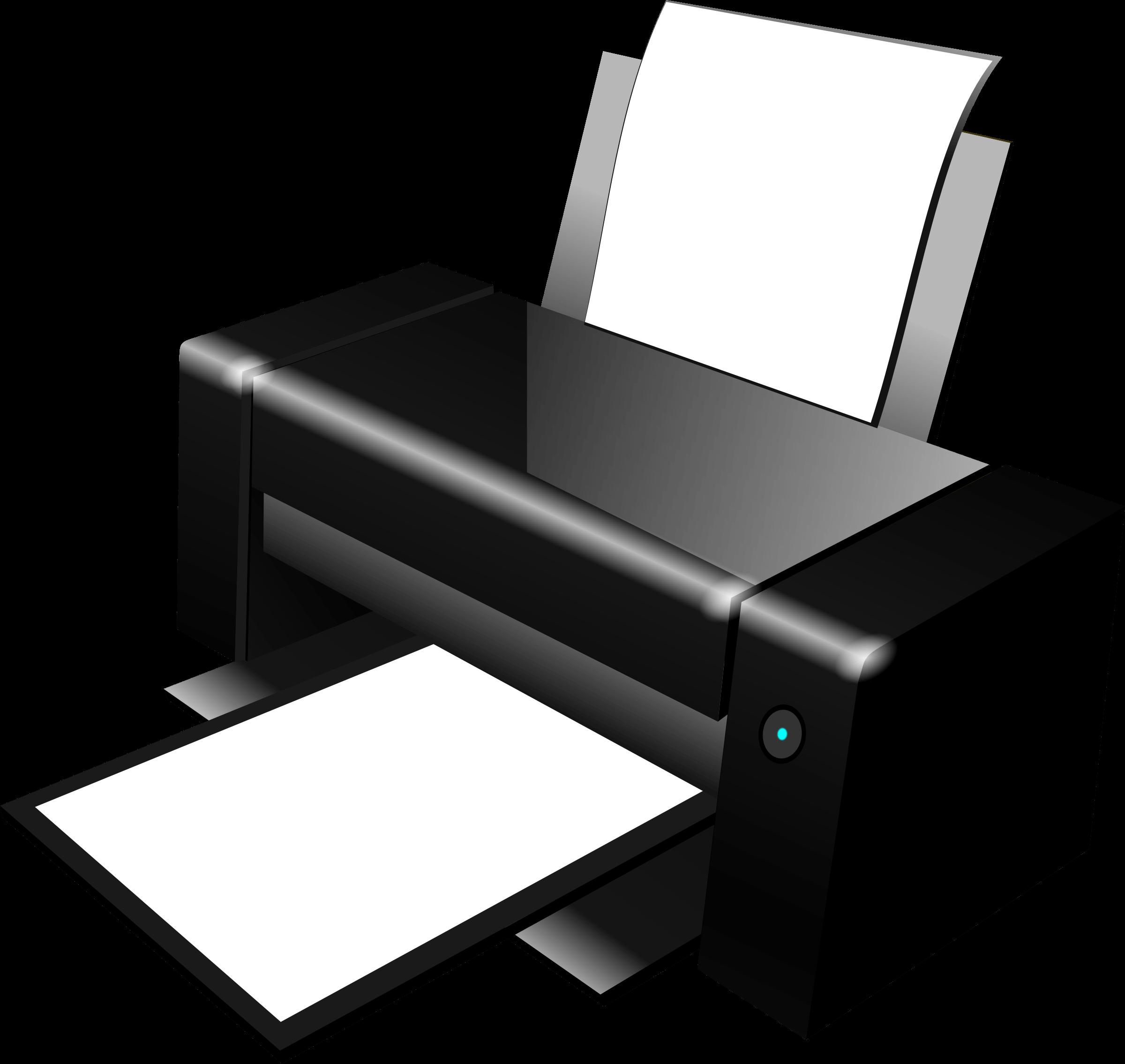 Printer clipart images clip art freeuse stock Black Clipart Printer transparent PNG - StickPNG clip art freeuse stock