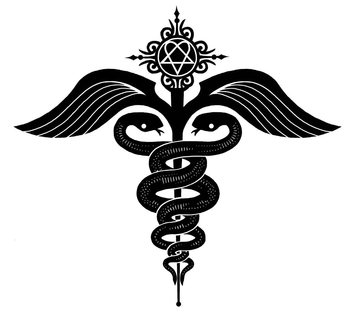 Pro med ambulance logo clipart black and white jpg free download Free Caduceus, Download Free Clip Art, Free Clip Art on ... jpg free download