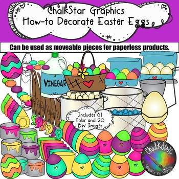 Procedural clipart clip freeuse How to Decorate Easter Eggs Clip Art- Chalkstar Graphics clip freeuse