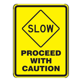 Proceed clipart clip royalty free stock Proceed With Caution Sign transparent PNG - StickPNG clip royalty free stock